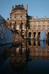 Paris - Louvre museum's pyramid reflection