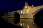 Avignon - Saint-Bénézet bridge and nightly reflection