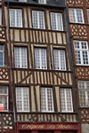Rennes - Half-timbered slanted old house