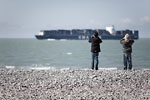 Le Havre - Two kids and the cargo ship