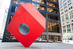 New-York City - Nogushi's Cube on Liberty Plaza