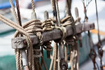 Copenhaguen - Nyhavn - halyards of an old rig