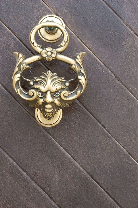 Devilish looking door knocker - Malta - Mosta - April 2005 - Architecture
