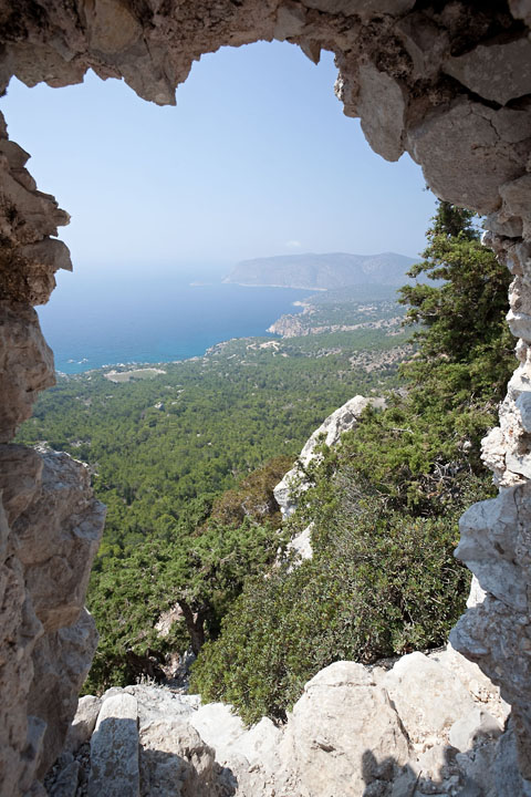 View from an old fortress - Greece/Rhodes - Monolithos - August 2010 - Architecture