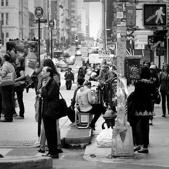 Broadway Grand Street - USA/New-York - New-York City - April 2011 - Black & White