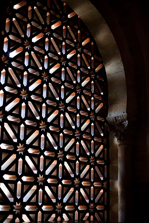 Latticed opening at the Mezquita-Cathedral - Spain - Córdoba - August 2011 - Architecture
